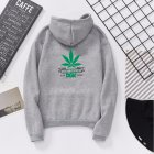 Men Women Ptinted Fleece Loose Thickened Long Sleeve Sweatshirts Hoody Gray 993#_L