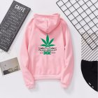 Men Women Ptinted Fleece Loose Thickened Long Sleeve Sweatshirts Hoody Pink 993#_M