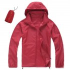 Unisex Quick Dry Hiking Jacket red XL