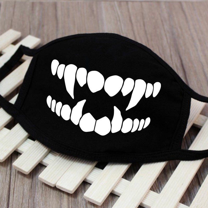 Men Women Riding Cotton Mask Breathable Dust-proof Facial Mouth Protection Fashion Black Mask KZ-3036