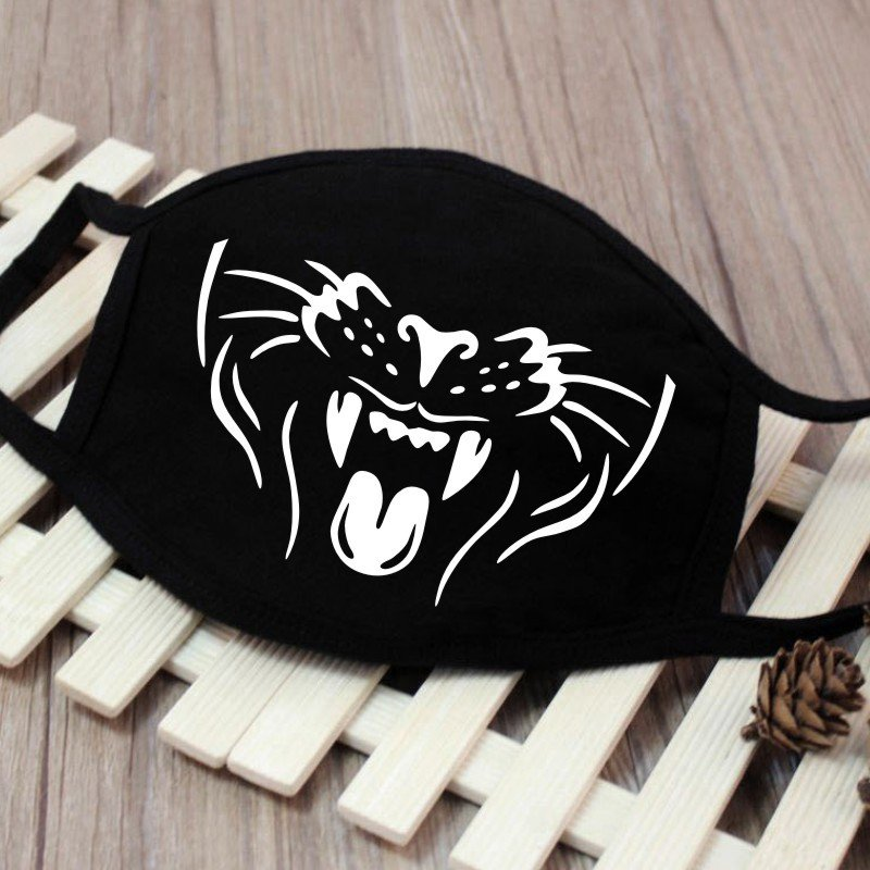 Men Women Riding Cotton Mask Breathable Dust-proof Facial Mouth Protection Fashion Black Mask KZ-3038