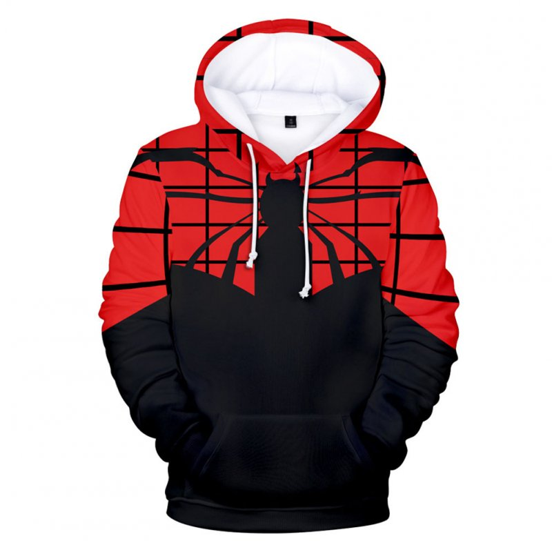 Men Women Stylish Cool Printing Spiderman Heroes Cosplay Sweater Hoodies Style B_M
