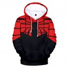 Men Women Stylish Cool Printing Spiderman Heroes Cosplay Sweater Hoodies Style B_XXL