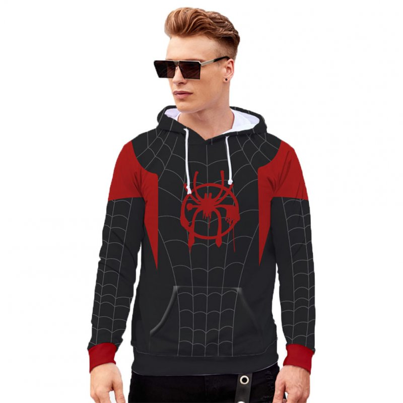 Men Women Stylish Cool Printing Spiderman Heroes Cosplay Sweater Hoodies Style C_XL