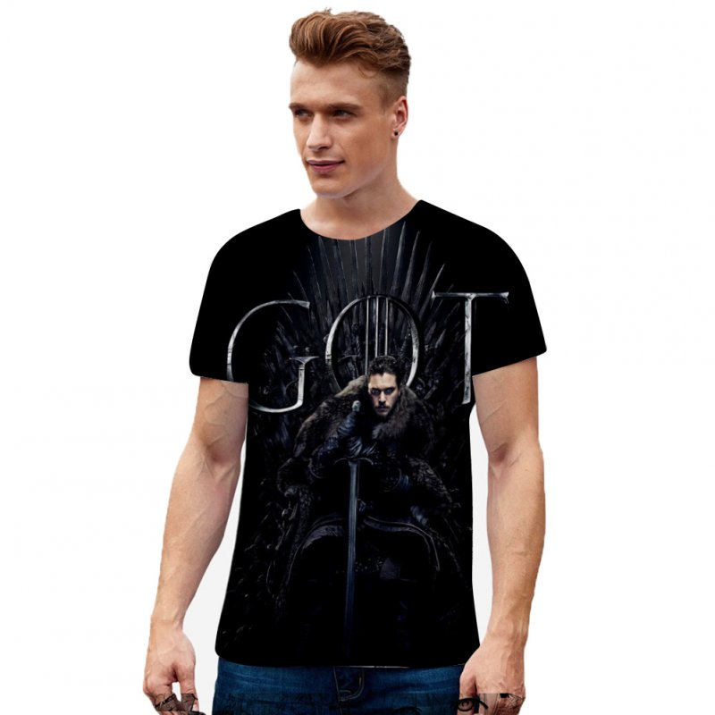 Men Women Summer Game of Thrones 3D Printing Short Sleeve T Shirt 5_M