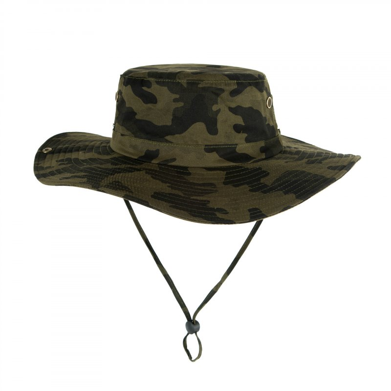 Men Women Summer Hat Outdoor Ultraviolet-proof Fisherman Hat for Travel Climbing Fishing Army green camouflage