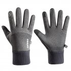Men Women Thermal Fleece Gloves Waterproof Running Jogging Cycling Ski Sports Touchscreen Fleece Gloves grey_One size