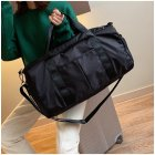 Men Women Travel Bag Large Capacity Zipper Luggage Bag Travel Bag Fitness Sports Gym Bag black