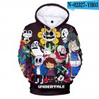 Men Women Undertale Series 3D Digital Printing Hooded Sweatshirts G XXL