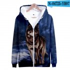 Men Women Unisex Fashion Painting 3D Hoodies Animal Wolf Print Casual Hooded Sweatshirt N 04725 YH07 Type Q XXXL