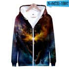 Men Women Unisex Fashion Painting 3D Hoodies Animal Wolf Print Casual Hooded Sweatshirt N-04725-YH07 Type U_XL