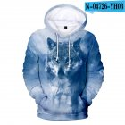 Men Women Unisex New Fashion Painting 3D Hoodies Animal Wolf Print Casual Hooded Sweatshirt Type B_L