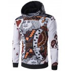 Men   s Fashion 3D Playing Cards Poker Printing Pullover Hoodie Sweatshirts