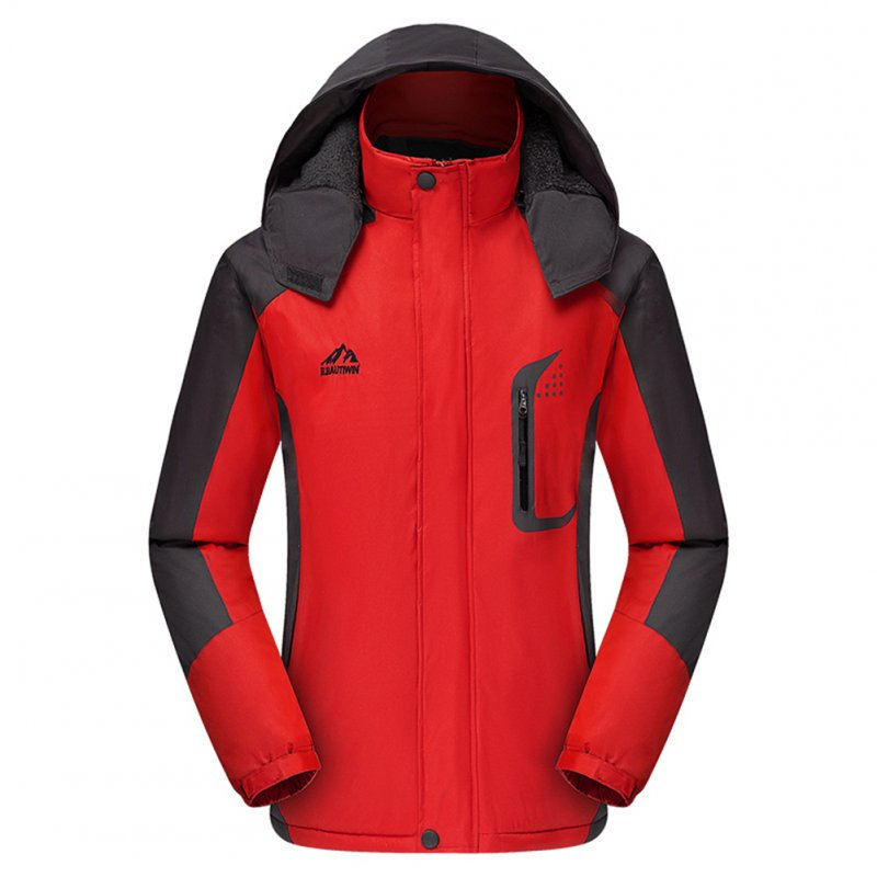 Men's Jackets Winter Thickening Windproof and Warm Outdoor Mountaineering Clothing  red_4XL