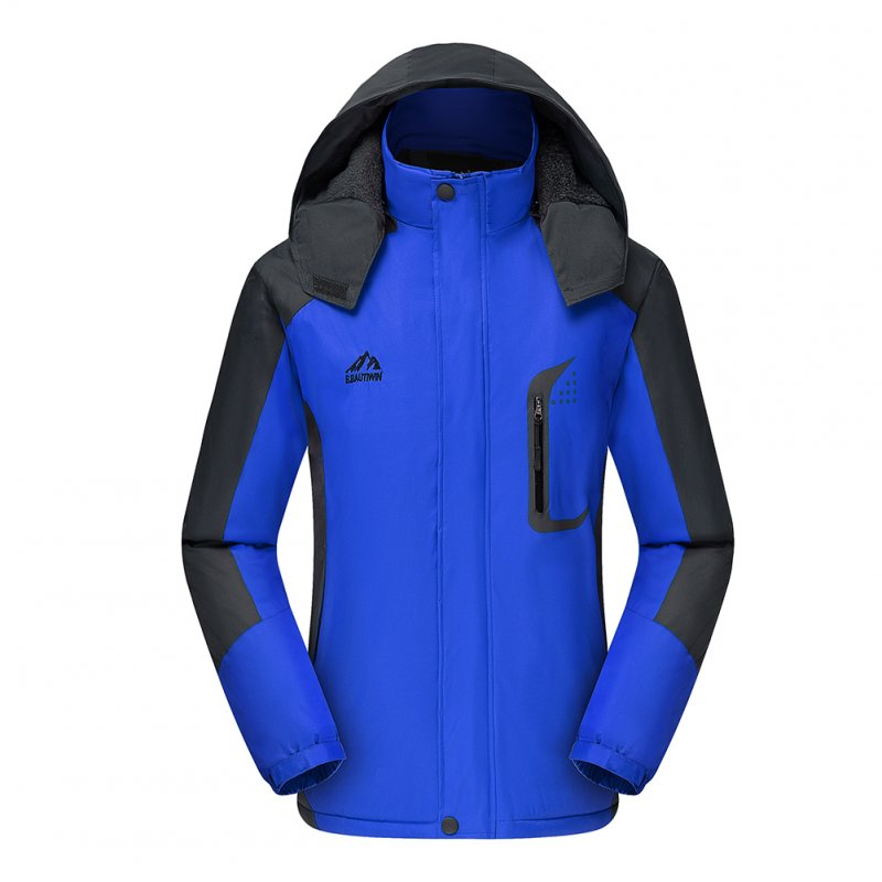 Men's Jackets Winter Thickening Windproof and Warm Outdoor Mountaineering Clothing  blue_XXL