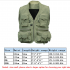 Men s Multifunction Pockets Travels Sports Fishing Vest Outdoor Vest L Khaki    Green XL