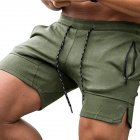 Men's Pants Summer Multicolor Sports Beach Zipper Pocket Loose Shorts Olive green _XL