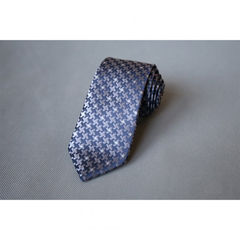 Men's Wedding Polyester Tie 7cm Necktie for Wedding Party Business  QLD-019