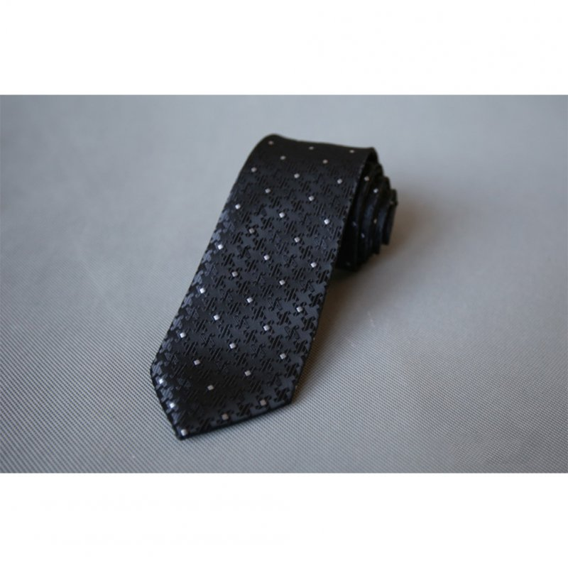 Men's Wedding Polyester Tie 7cm Necktie for Wedding Party Business  QLD-016