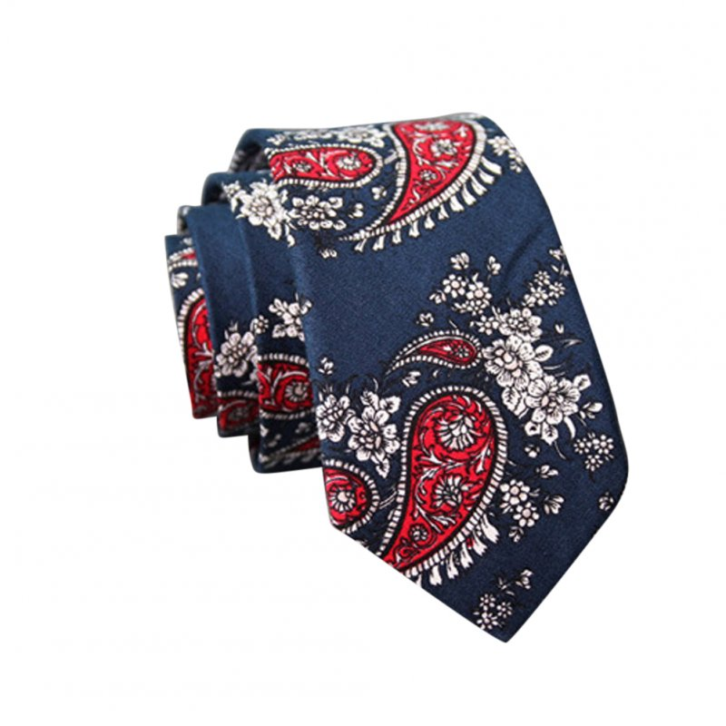 Men's Wedding Tie Floral Cotton Necktie Birthday Gifts for Man Wedding Party Business Cotton printing-005