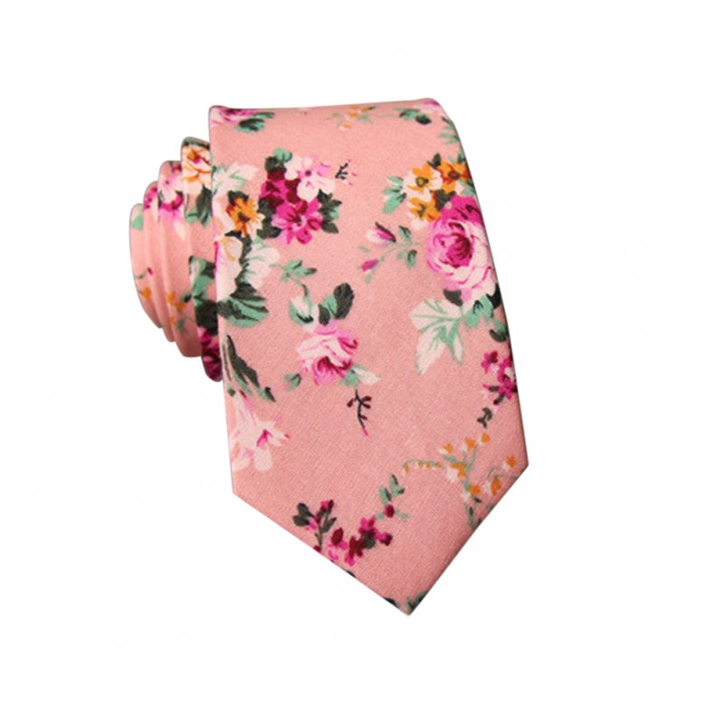 Men's Wedding Tie Floral Cotton Necktie Birthday Gifts for Man Wedding Party Business Cotton printing-012