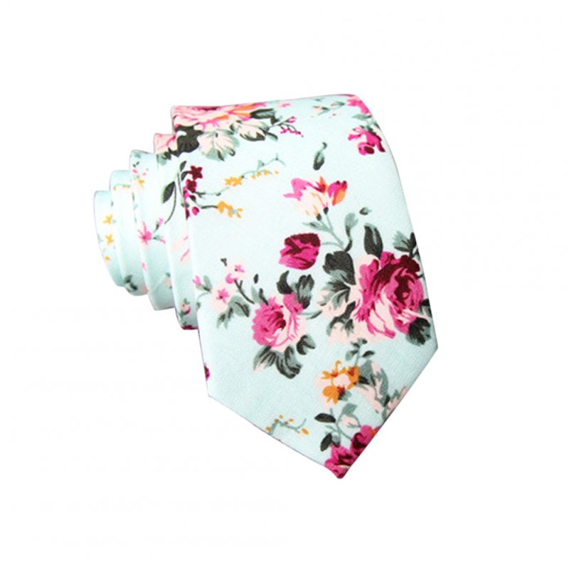 Men's Wedding Tie Floral Cotton Necktie Birthday Gifts for Man Wedding Party Business Cotton printing-013