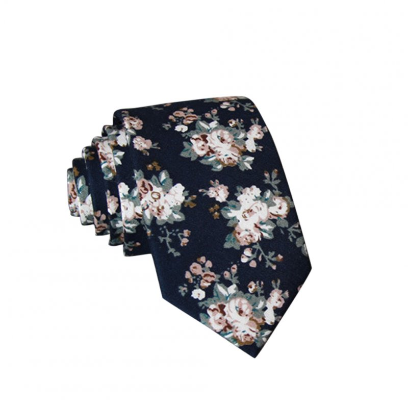 Men's Wedding Tie Floral Cotton Necktie Birthday Gifts for Man Wedding Party Business Cotton printing-030