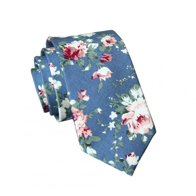 Men's Wedding Tie Floral Cotton Necktie Birthday Gifts for Man Wedding Party Business Cotton printing -034