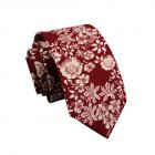 Men's Wedding Tie Floral Cotton Necktie Birthday Gifts for Man Wedding Party Business Cotton printing -032