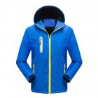 Men's and Women's Jackets Autumn and Winter Outdoor Reflective Waterproof and Breathable  Jackets blue_L