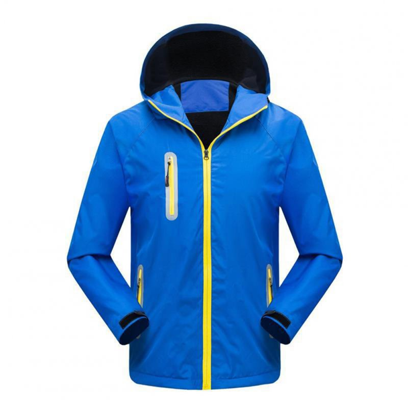 Men's and Women's Jackets Autumn and Winter Outdoor Reflective Waterproof and Breathable  Jackets blue_XL