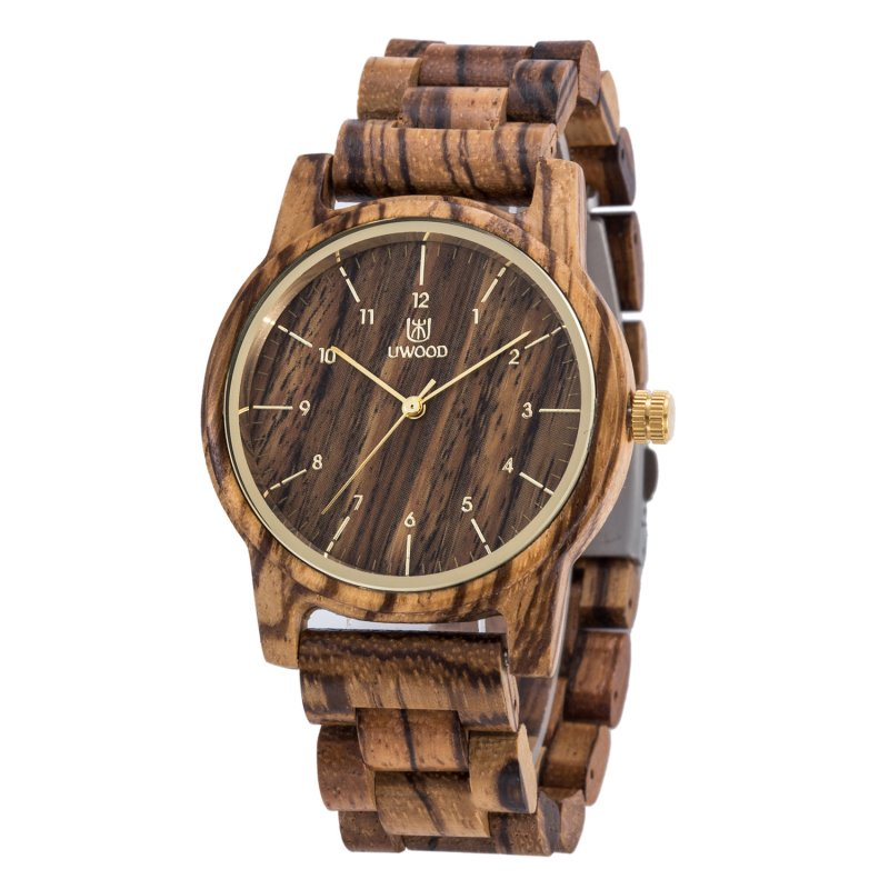 Mens Classic Wood Quartz Wrist Watch