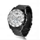 Mens Professional Quartz Sport Wrist Watch water resistant with anti clockwise movement bezel