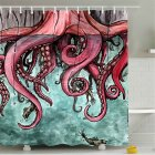 Mermaid Tail Pattern Shower  Curtains Bathroom Waterproof 3d Printing Curtain Octopus tail_150*180cm