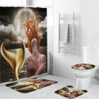 Mermaid Tail Shower  Curtain Washable Waterproof Bathroom Hanging Curtain Decor yul-1833-Mermaid_150*180cm