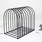 Metal Bookshelf Stand Book Standing Document File Desktop Manager Holder black_large