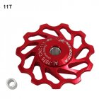 Ceramic Bearing Mountain Bike Road Bicycle 11T 13T Rear Guide Pulley 11T red