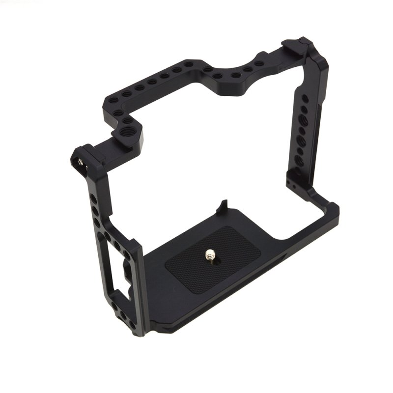 Metal Camera Video Shooting Rig Cage with 1/4'' Screw Holes 3/8'' Screw Holes for Canon 5D Mark II III IV 5Ds black