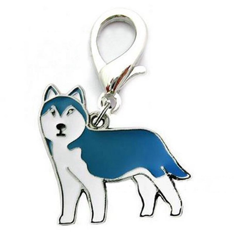 Metal Dog Key Chain Lovely Puppy Pendant Keyring Keychain Woman Bag Charm Gift Husky_2.5cm