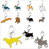 Metal Dog Key Chain Lovely Puppy Pendant Keyring Keychain Woman Bag Charm Gift Schnauzer 2 5cm