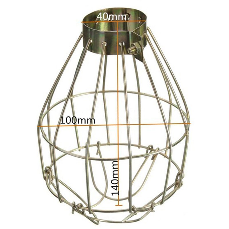 Metal Lamp Bulb Guard Clamp Vintage Light Cage Hanging Industrial Lamp Covers Pendant Decor for Home Bar