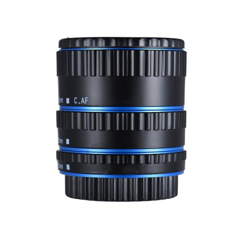 Metal Mount Lens Adapter Auto Focus AF Macro Extension Tube Ring for Canon EOS EF-S Lens 750D 80D 7D T6s 60D 7D 550D 5D Mark IV  blue