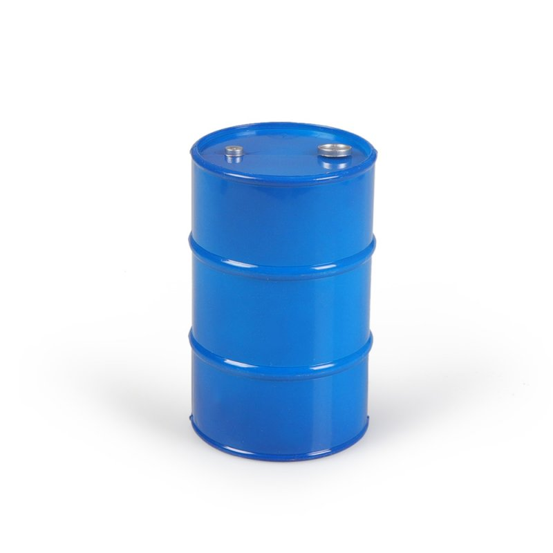 Metal Oil Drum For 1/10 RC Tracked Axle SCX10 90047 TAMIYA CC01 D90 D110 TF2 Traxxas TRX4 KM4 Simulation Decoration blue