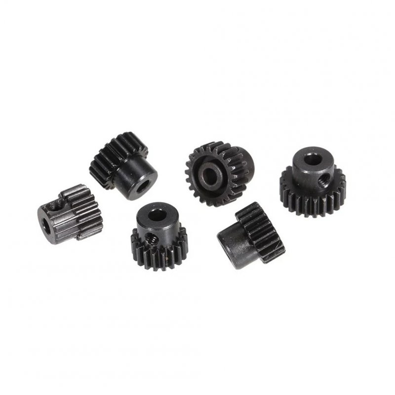 Metal Pinion Motor Gear for RC Car 1/10 RC Buggy Car Truck Motor Gears RC Car Part ZD Racing 48DP M0.53 17T 18T 19T 20T 21T 22T  Gear set (6)