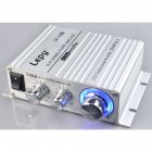 V3 Digital Hi-Fi Stereo Audio Power Amplifier 12V 25W For iPhone PC/Car MP3 Silver_Lepy