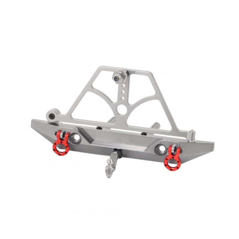 Metal Rear Bumper with Spring Spare Tire Frame for 1/10 RC Crawler Car Axail Scx10 4WD D90 Titanium