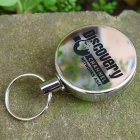 Metal Retractable Pull Key Chain Lanyard Tag Card Badge Holder Reel Recoil Belt Clip Discovery type_4 cm diameter