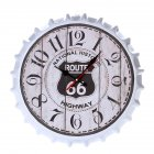 Metal Retro Bottle Cap Mute Wall Clock  Beer Bottle Cover Wall Clock Home Decoration Self-provided 1 AA Battery Style 4