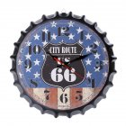 Metal Retro Bottle Cap Mute Wall Clock  Beer Bottle Cover Wall Clock Home Decoration Self-provided 1 AA Battery Style 6