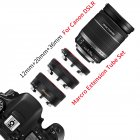 Metal TTL Auto Focus Macro Extension Tube Ring for Canon 600d 500d 80d EOS EF EF-S 60D for Canon Camera Accessory black